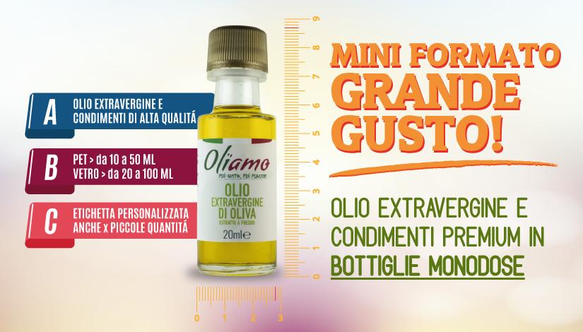 Olio Extravergine monodose in bottiglia di vetro