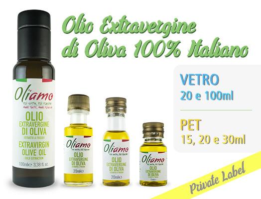 Olio extravergine di oliva in bottiglie monodose
