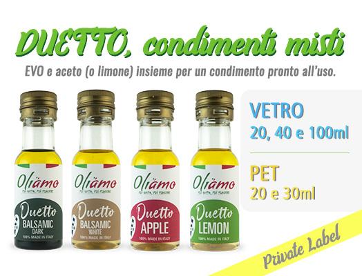 Condimenti monodose in bottiglia